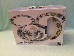 NOS Oneida Majesticware Vintage Fruit 20 pc Dinnerware Set S