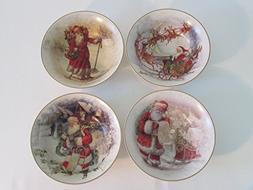 Pottery Barn Nostalgic Santa Bowls