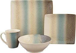 Sango 16 Piece Nouveau Dinnerware Set, Teal