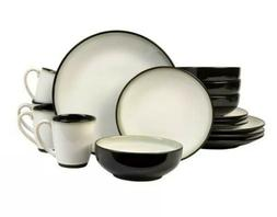 Sango Nova Black 16 Piece Dinnerware Set, Service for 4 Blac
