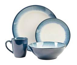novelle dusk 16 piece reactive glaze stoneware