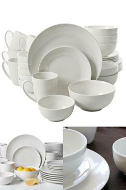 Ogalla 30-Piece Casual White Porcelain Dinnerware Set