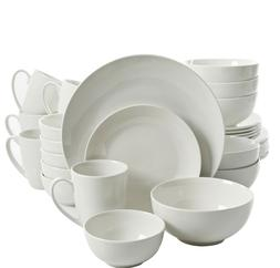 Ogalla 30-Piece Casual White Porcelain Dinnerware Set  by Gi