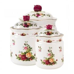 Royal Albert Old Country Roses Canisters, Set of 3 by Royal