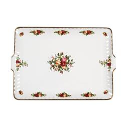 Old Country Roses 12.5-inch Fluted Serving Tray - Royal Albe