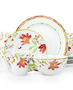 Oneida Italian Cypress 16-pc. Floral Dinnerware Set, Service