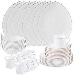 Matashi 40-Piece Opal Glassware Dinner Set - Break Resistant