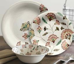 Outdoor 12-piece Multi Color Floral Melamine Dinnerware Set