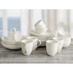 Over And Back Off The Menu 30-Piece Elegant White Bone Dinne