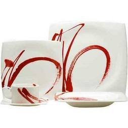 Red Vanilla Paint It Red 5-Piece Dinnerware Set