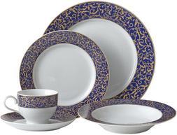 Mikasa Parchment Cobalt Dinnerware Set