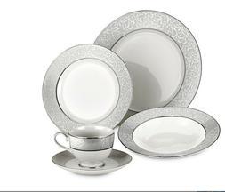 Mikasa Parchment Platinum Gray NEW 5 Pc Place Setting Dinner