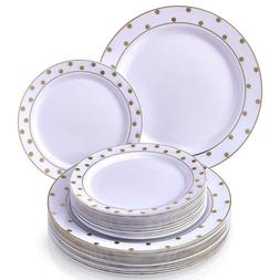 PARTY DISPOSABLE 40 PC DINNERWARE SET | 20 Dinner Plates | 2