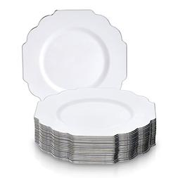 PARTY DISPOSABLE 20 PC DINNERWARE SET | Heavyweight Plastic