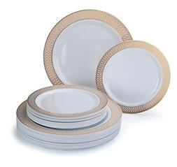 """"""" OCCASIONS"""" 50 piece Party Disposable Dinnerware Set - Wedd"""