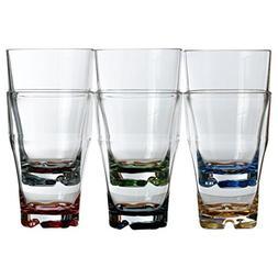 MB Coastal Designs Party Shatter Proof Stacking Beverage Gla