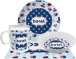 Patriotic Celebration Dinner Set - 4 Pc