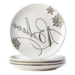 Paula Deen 46446 4 Piece Winter Charm Dinnerware Stoneware H