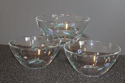 "PFALTZGRAFF April SET of 3 ~ Glass Fruit Dessert Bowls 5"" ~"