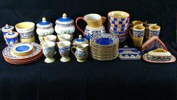 Pfaltzgraff Villa Della Luna Dinnerware Plates Mugs Jars Pit