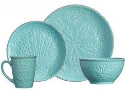 Pflatzgraff Malibu Sea life Teal Dinnerware  16-piece Set Se