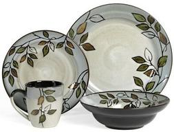 Pflatzgraff Rustic Leaves Dinnerware 16-piece Set Service fo