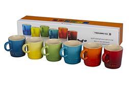 Le Creuset PG8056HB-01MC Stoneware Espresso Mugs, Set of 6,
