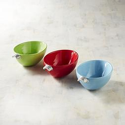 New Pier One Christmas Lights Dip Nut Snack Bowls Set of 3