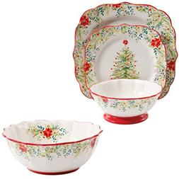 The Pioneer Woman Holiday Cheer 12-Piece Dinnerware Set with