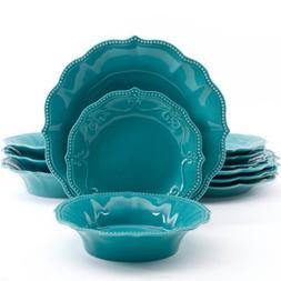 The Pioneer Woman Paige 12-piece Crackle Glaze Dinnerware Se