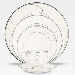 Platinum Wave 20 Piece Dinnerware Set by Noritake