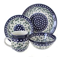 Polish Pottery Alyce 16 Piece Dinner Set