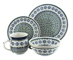 Polish Pottery Maia 4 Piece Dinner Set