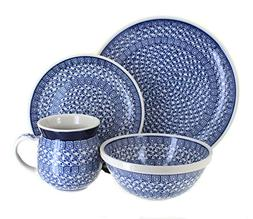 Polish Pottery Olympia 4 PC Dinner Set