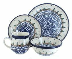 Polish Pottery Rustic Pines 16 Piece Dinnerware Set