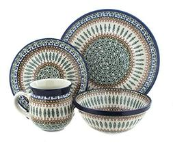 Polish Pottery Tuscany 4 PC Dinner Set