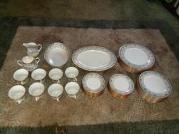 Noritake Polonaise China Dinner Set For 8! #2045 - 44 pcs