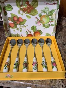 Portmeirion POMONA SET OF 6 TEA SPOONS!    New