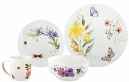 Melange Porcelain 16-piece Butterfly Garden Dinnerware Set S