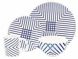 Melange Porcelain 18-Piece Dinnerware Set    Service for 6 