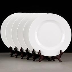 """MIXJOY 6-Pieces Porcelain 10"""" Dinner Plate Set"""