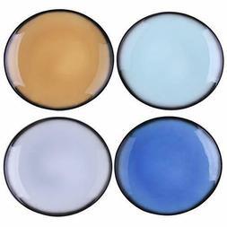 Porcelain Dinner Plates 10.4 Inch Curved Dinnerware Set Plat
