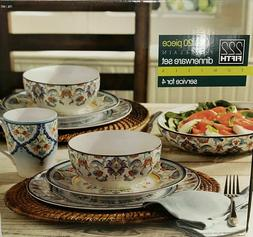 222 FIFTH Porcelain  Dinnerware Set 20 piece New OB