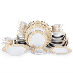 42-Piece Porcelain Dinnerware Set In Impeccable Design Parch