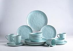 Pangu 16-Piece Dinnerware Sets, MINIMALISM, Handmade Irregul