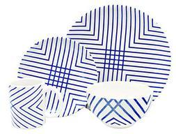 Melange Porcelain 18-Piece Dinnerware Set  | Service for 6|