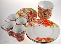 222 Fifth Porcelain Dinnerware Summer Daisies Set 4 Coffee M