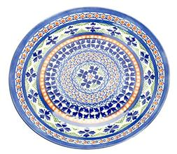 Spiceberry Home Porcelain Plates with Blue and Orange Morocc