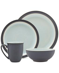 Denby Blends Blue PEVERIL 4-piece Dinnerware Set Service for