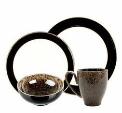 Denby Praline Noir 12-Piece Dinnerware Set
